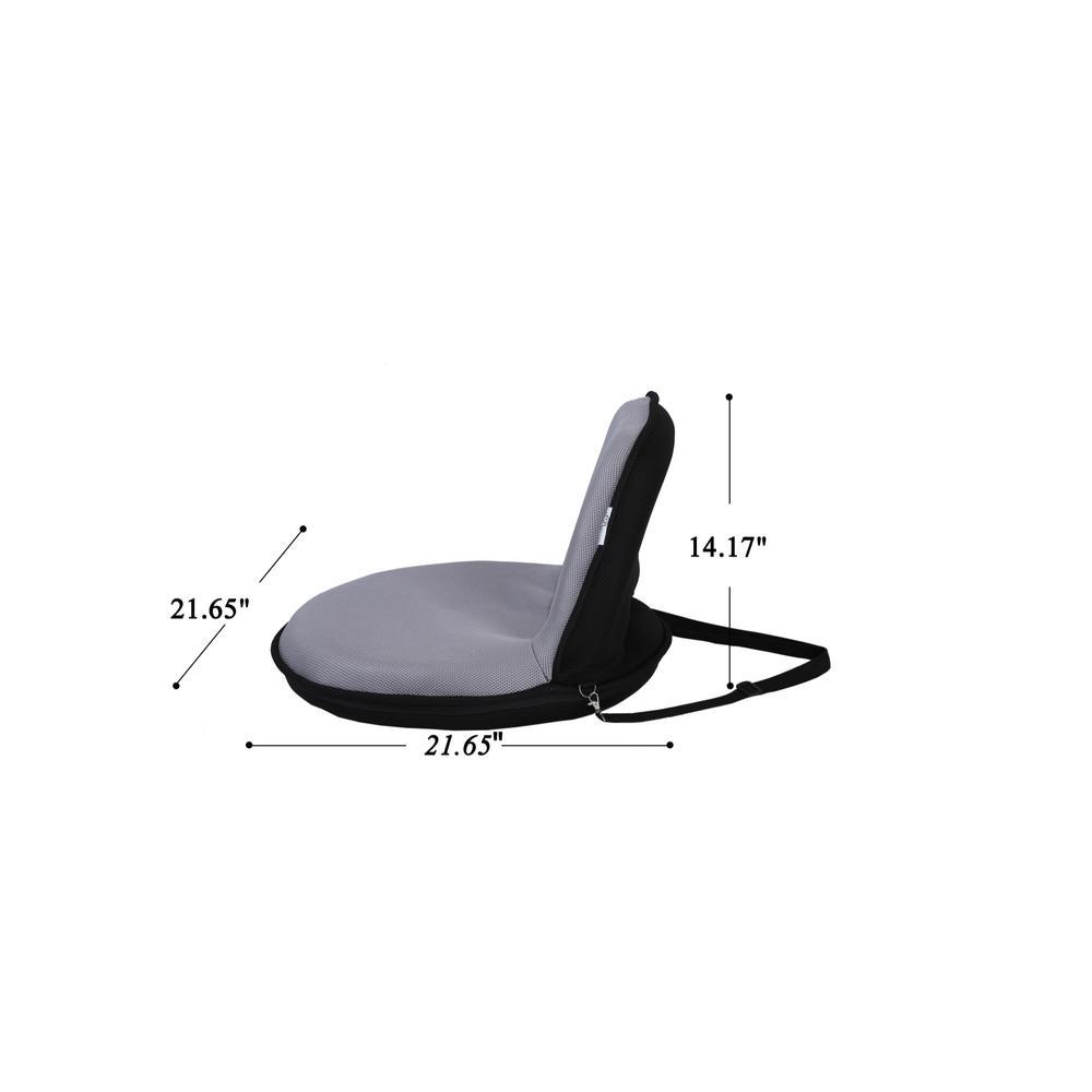 Folding Chair Portable Floor Chair Karma Chair NAVY 14 Wide X 22 Tall X 21 Deep. Adjustable Angle Back-Rest
