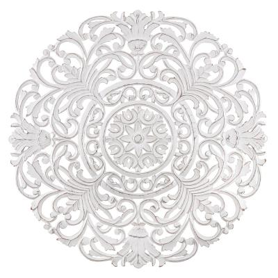 Frasso 35.5 in. x 35.5 in. White Medallion by Madeleine Home Wooden Wall Art/ Sculptures