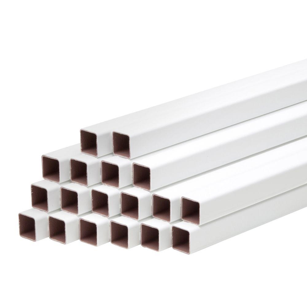 Marquee Railing 42 in. Composite White Square balusters for 8 ft. Section