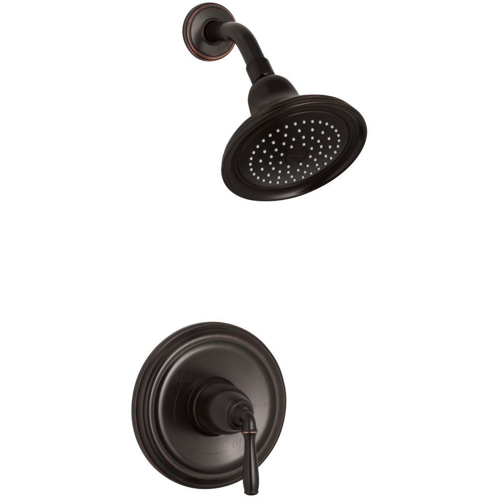 KOHLER Devonshire 1 Handle Rite Temp Shower Faucet Trim Kit In Oil Rubbed