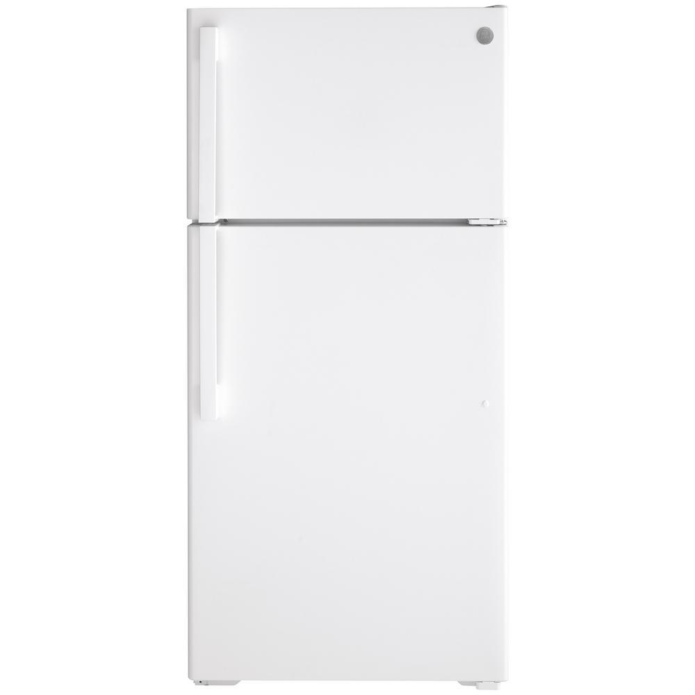 GE 15.6 cu. ft. Top Freezer Refrigerator in White, ENERGY STAR
