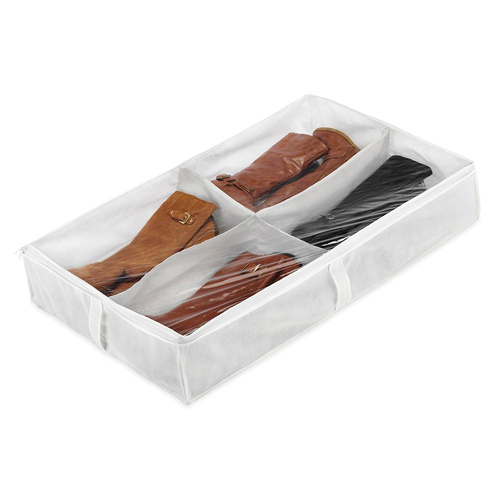 Whitmor 4 Section White Boot Organizer 6044 4787 The Home Depot