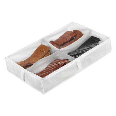 4-Section White Boot Organizer