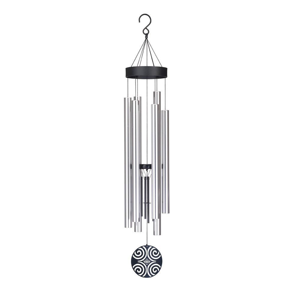 Precision-Tuned Majestic 42 in. Aluminum and Steel Double Wind Chime