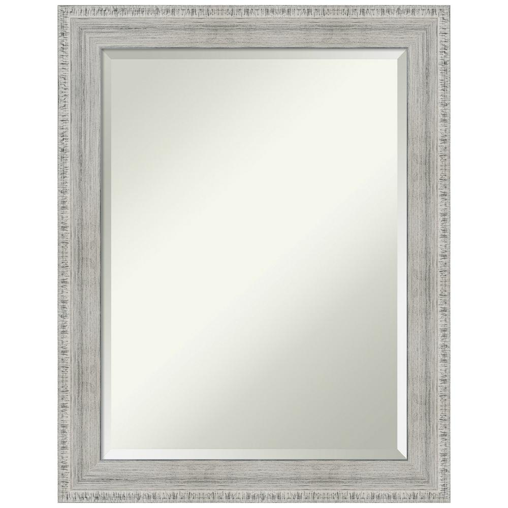 Amanti Art Rustic White Wash 22.38 in. x 28.38 in. Decorative Wall Mirror was $187.0 now $109.95 (41.0% off)