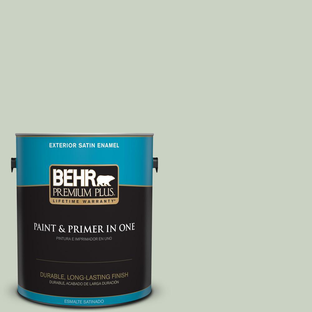 1 gal. #PPU11-12 Mild Mint Satin Enamel Exterior Paint