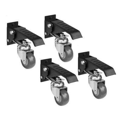 2-3/8 in. Gray Heavy-Duty Workbench Caster with 400 lb. Load Rating (4-Pack)