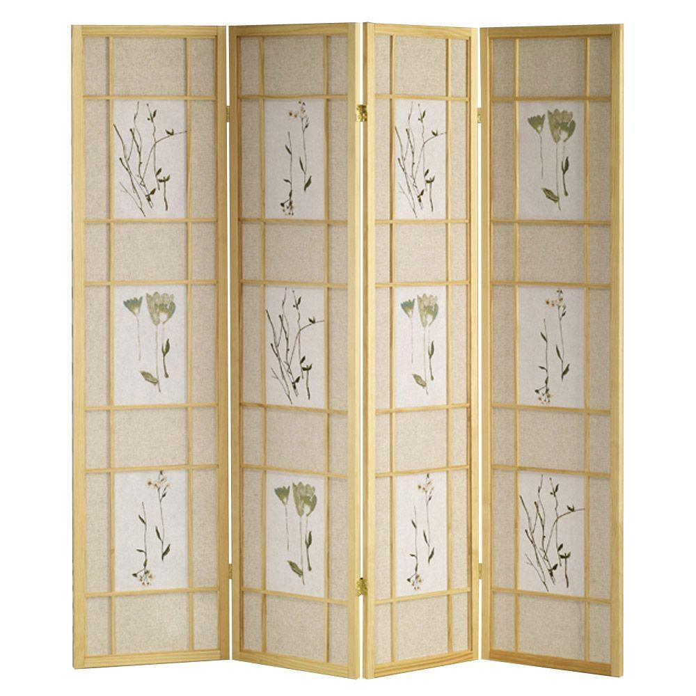 Exceptional Natural 4 Panel Room Divider