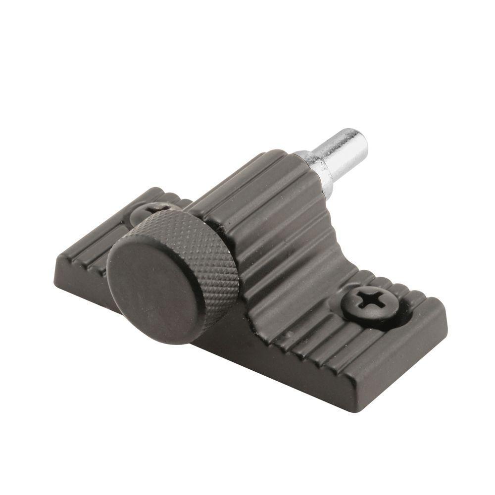 Prime-Line Twist-In Black Sliding Door Lock