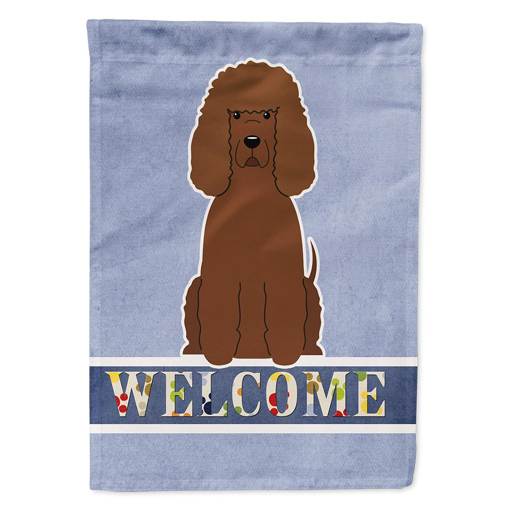 11 in. x 15-1/2 in. Polyester Irish Water Spaniel Welcome 2-Sided