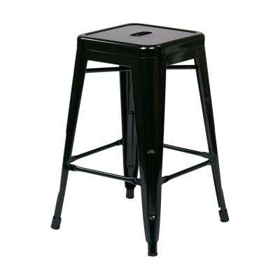 Patterson 24 in. Black Bar Stool (Set of 4)