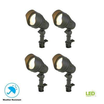 Low-Voltage 50-Watt Equivalent Black Outdoor Integrated LED Landscape Flood  Light (4 - Landscape Lighting - Outdoor Lighting - The Home Depot