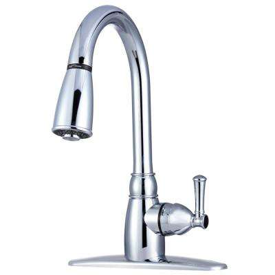 RV Single-Handle Pull-Down Sprayer Kitchen Faucet with Multiple Spray Functions in Chrome