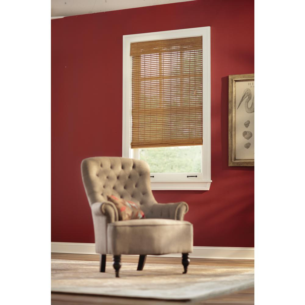 Honey Bamboo Weave Roman Shade - 67.5 in. W x 72