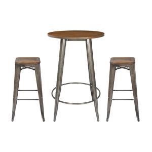 Swell Osp Home Furnishings Indio Round Pub Table And 2 Bar Stool Machost Co Dining Chair Design Ideas Machostcouk