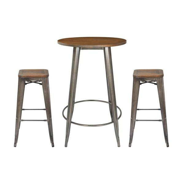 Fabulous Osp Home Furnishings Indio Round Pub Table And 2 Bar Stool Download Free Architecture Designs Scobabritishbridgeorg