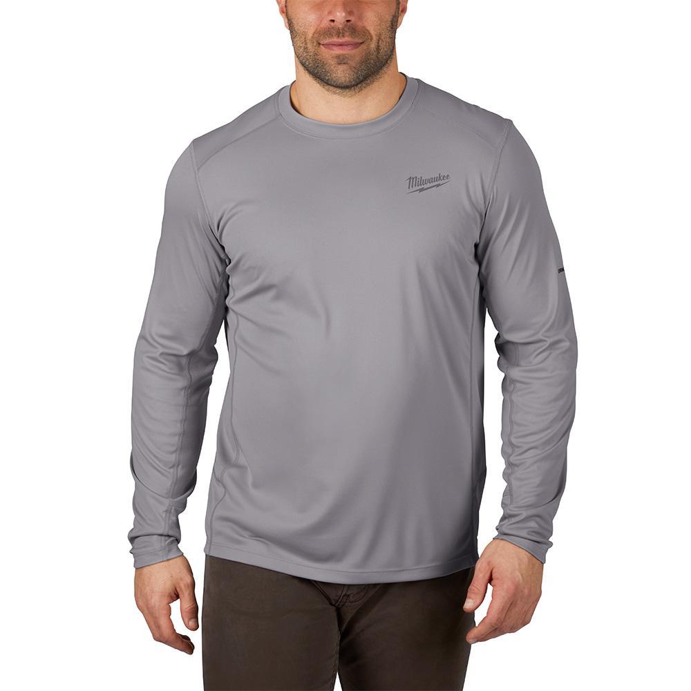 Gen II Men's Work Skin Large Gray Light Weight Performance Long-Sleeve T-Shirt