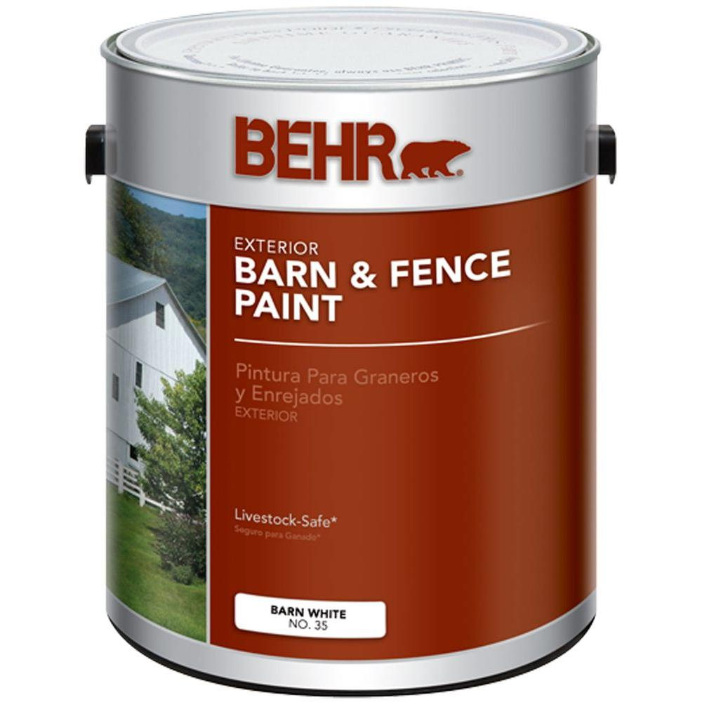 Home Depot Exterior Paint Behr 1Galwhite Exterior Barn And Fence Paint03501  The Home Depot