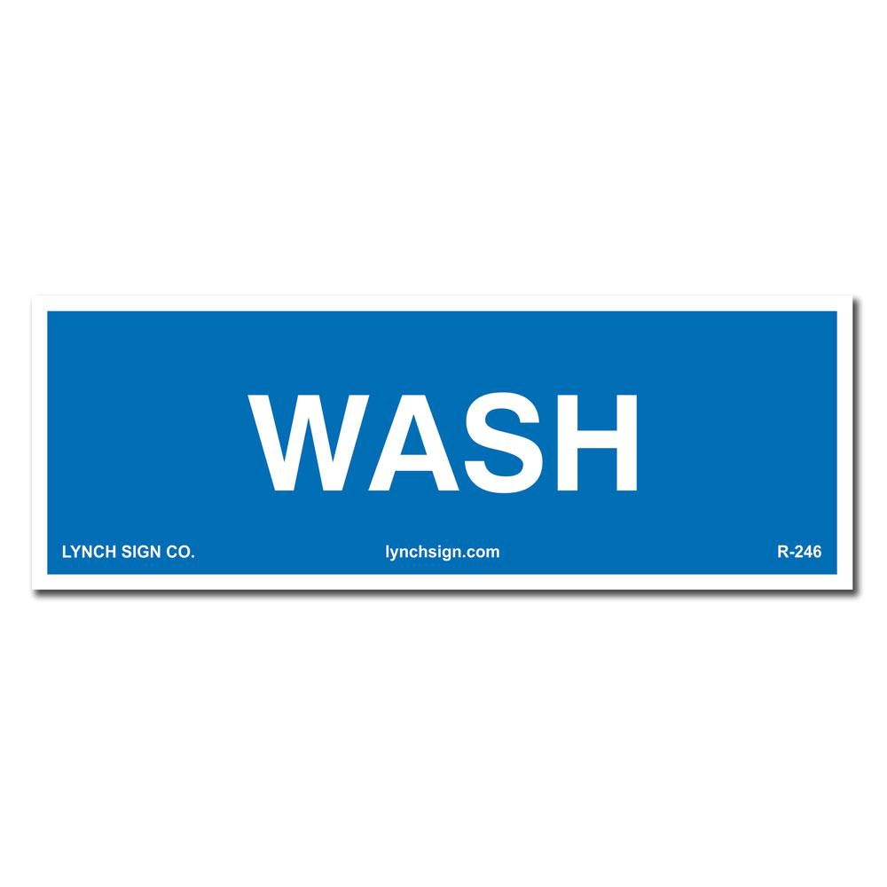 picture about Wash Rinse Sanitize Printable Signs named Lynch Signal 9 within. x 3 in just. Clean Indicator Revealed upon Much more Tough More time-Long term Thicker Styrene Plastic.