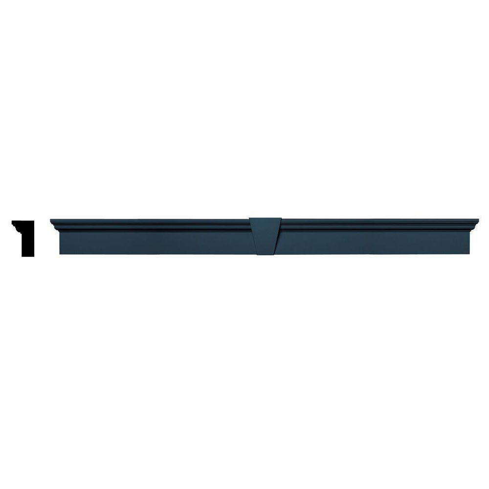 Builders Edge 2-5/8 in. x 6 in. x 73-5/8 in. Composite Flat Panel Window Header with Keystone in 036 Classic Blue