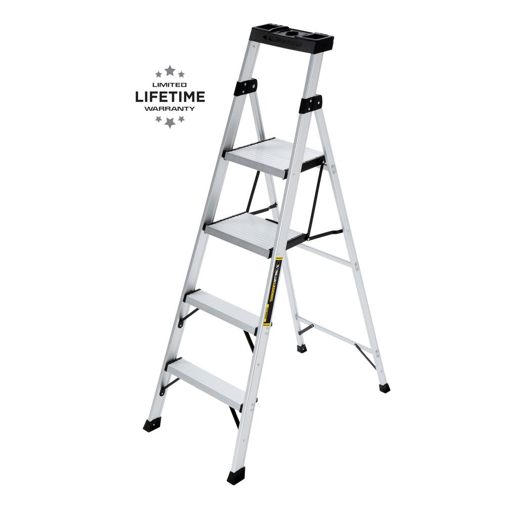 Gorilla Ladders 5.5 ft. Aluminum Hybrid Ladder with 250 lbs. Load Capacity Type I Duty Rating