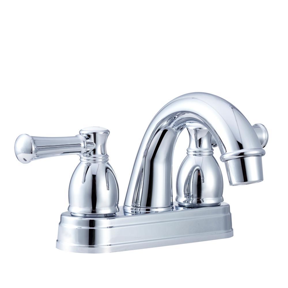 Dura Faucet 4 in. Centerset 2-Handle Designer Arc Spout RV Bathroom ...