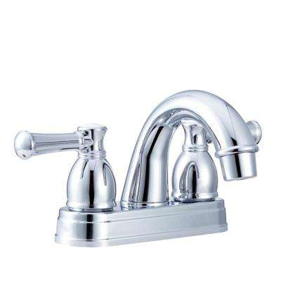 4 in. Centerset 2-Handle Designer Arc Spout RV Bathroom Faucet in Chrome