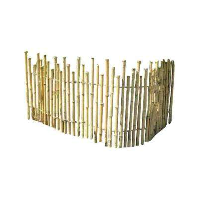 5 ft. L x 2 ft. H Bamboo Picket Fence Rolled Fence