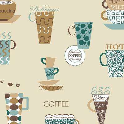 Norwall Coffee Time Vinyl Strippable Roll Wallpaper Covers 56 Sq Ft Fk34429 The Home Depot