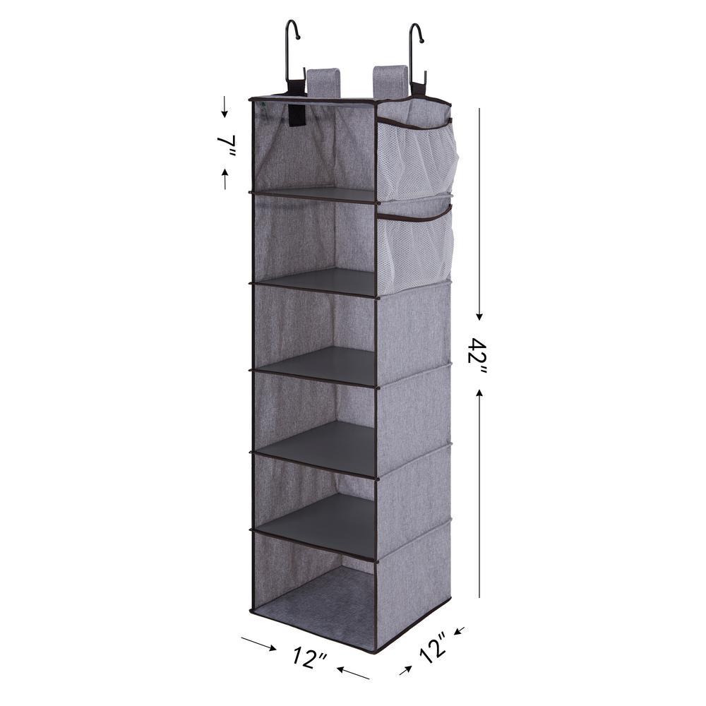 10 Shelf Hanging Closet Organizer Faux Jute