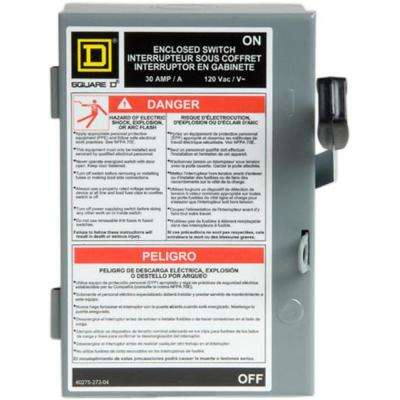 30 Amp 240-Volt Single-Pole Fused Indoor Light Duty Safety Switch