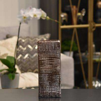 Copper Distressed Ceramic Decorative Vase