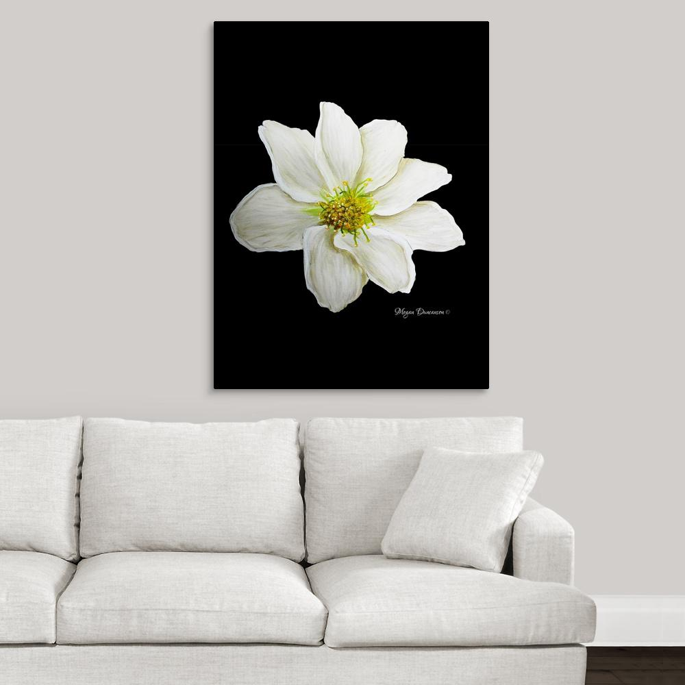 """White Flower I"" by Megan Duncanson Canvas Wall Art"