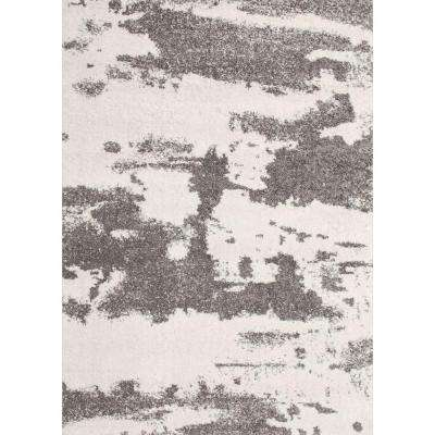Alberto White/Gray 5 ft. x 7 ft. Indoor Area Rug