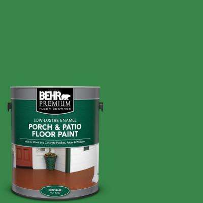 1 gal. #450B-7 Green Grass Low-Lustre Enamel Interior/Exterior Porch and Patio Floor Paint