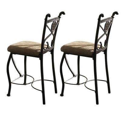 Brookfield 24 in. Brown Counter Chair (Set of 2)