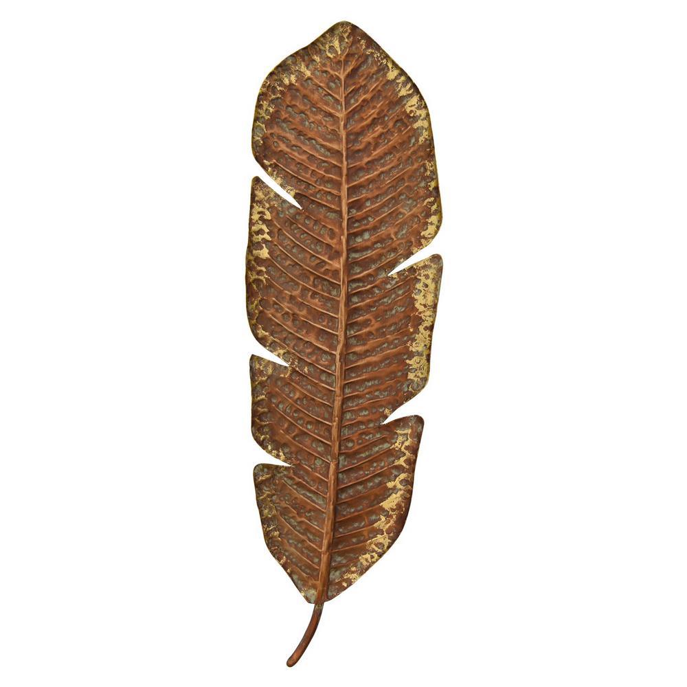 Gold Metal Leaf Wall Decor