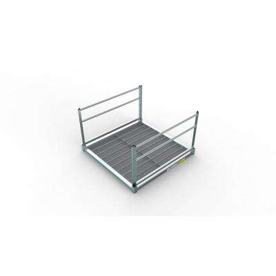 PATHWAY 3G Solo 5 ft. x 5 ft. Expanded Aluminum Platform with 2-Line Handrails