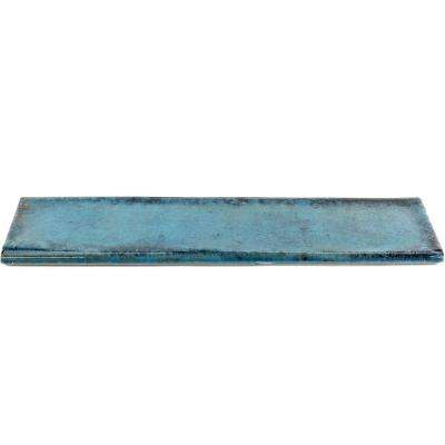 Moze Blue 3 in. x 12 in. Ceramic Bullnose Trim