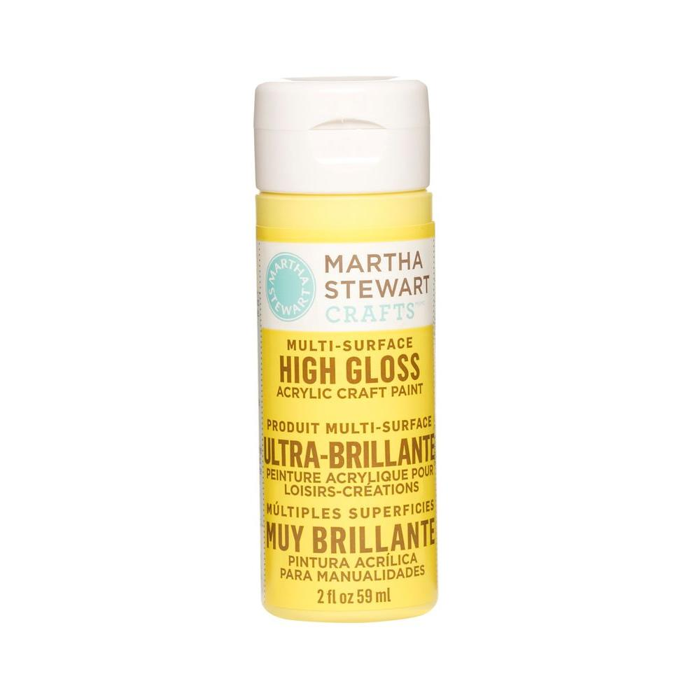 Martha Stewart Crafts 2-oz. Chamomile Multi-Surface High Gloss Acrylic Craft Paint