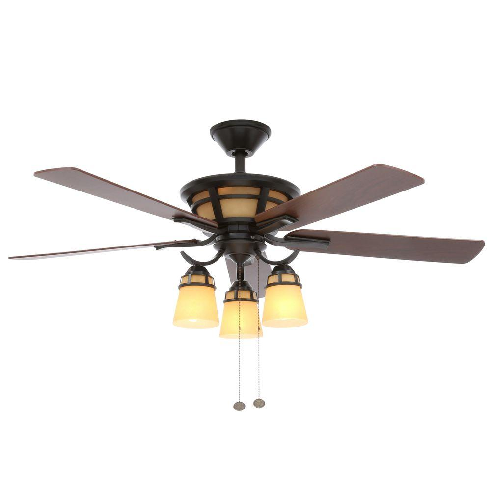 Hampton bay alicante 52 in indoor natural iron ceiling fan with indoor natural iron ceiling fan with light kit 58004 the home depot mozeypictures Images