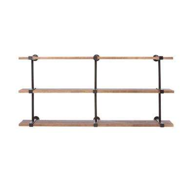 Studio Craft 60 in. W x 16.5 in. D Weathered Black Decorative Shelf