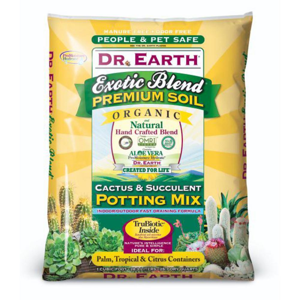 Dr Earth 25 Qt Exotic Blend Cactus And Succulent Potting Mix 809x The Home Depot