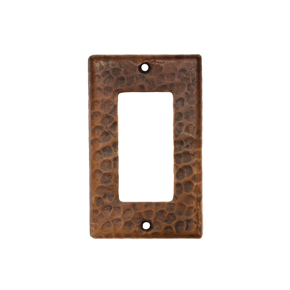 Premier copper products 1 gang hammered copper ground faultrocker premier copper products 1 gang hammered copper ground faultrocker gfi switch plate oil jeuxipadfo Gallery