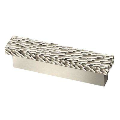 Modern Hammered 3 in. (76mm) Polished Nickel Drawer Pull