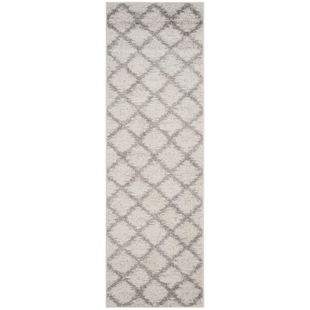 Adirondack Ivory/Silver 3 ft. x 10 ft. Runner Rug