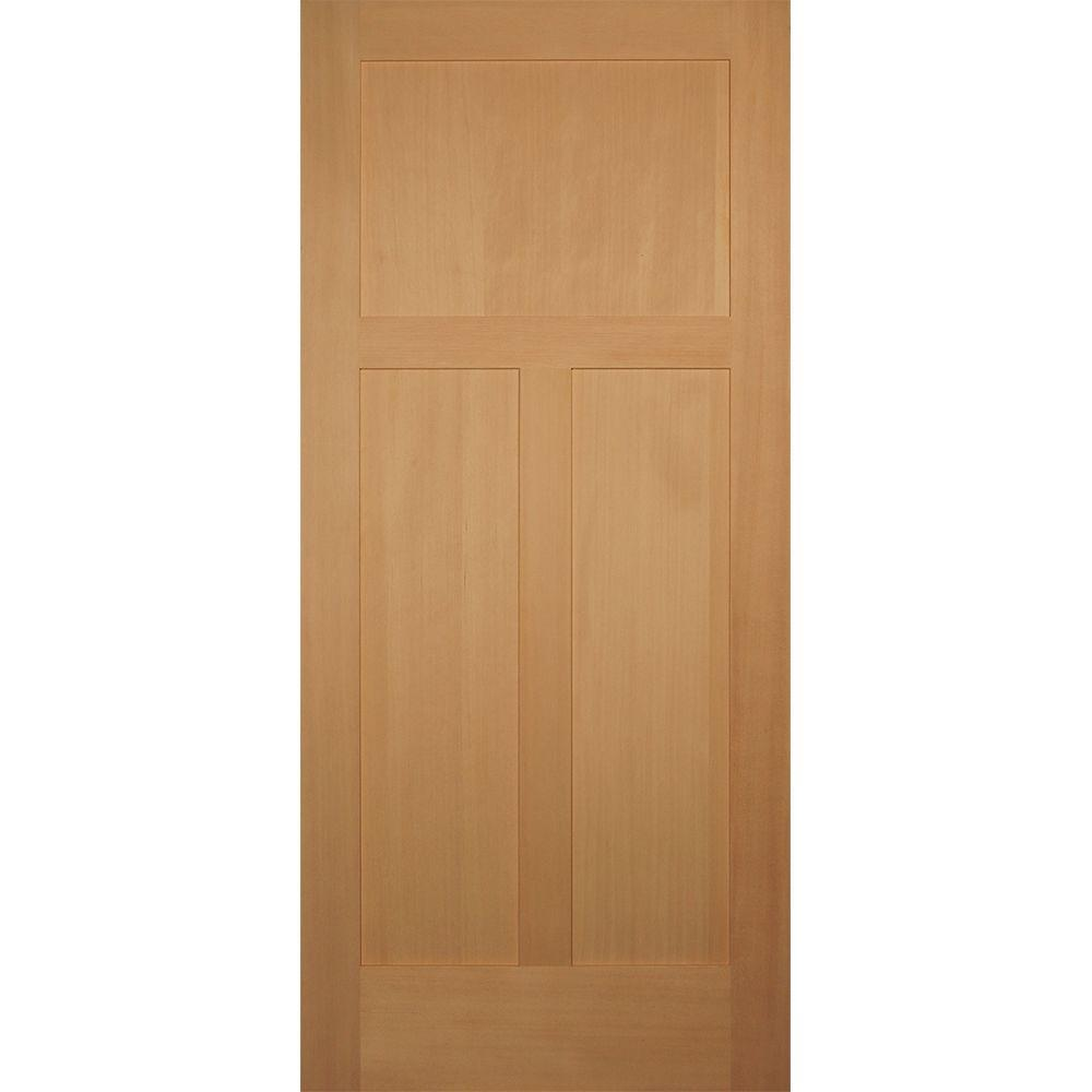 Builder\u0027s Choice 36 in. x 80 in. 3 Panel Craftsman Solid Core Hemlock Single  sc 1 st  Home Depot & Builder\u0027s Choice 36 in. x 80 in. 3 Panel Craftsman Solid Core ...