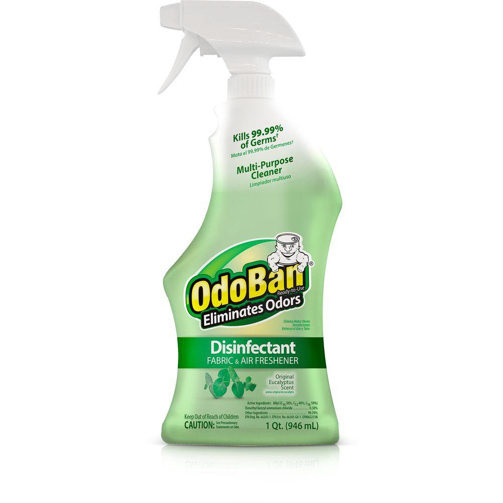 OdoBan 32 oz. Ready-to-Use Eucalyptus Disinfectant, Fabric and Air Freshener, Mold and Mildew Control, Multi-Purpose Spray