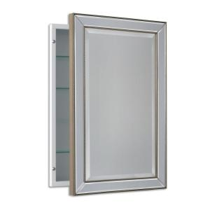 Deco Mirror 16 in. W x 26 in. H x 5 in. D Framed Single Door ...
