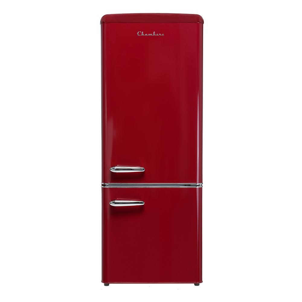 57 in. H 7 cu. ft. Bottom Freezer Energy Star Refrigerator in Wine Red